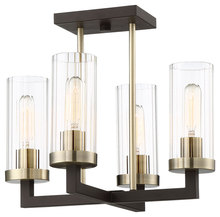 Minka-Lavery 3049-560 - 4 Light Semi Flush