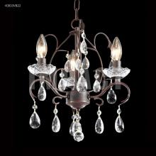 James R Moder 40833VB22 - Mini 3 Arm Chandelier