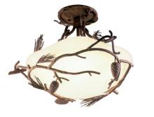 Kalco 5027PD - Ponderosa 3 Light Semi Flush