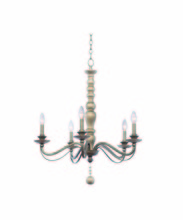 Kalco 506351DS - Colony 5 Light Chandelier