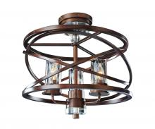 Kalco 6605EZ - Eternity 3 Light Semi Flush