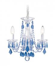 Schonbek 6993CL - Allegro 3 Light 110V Chandelier in Silver with Clear Heritage Crystal