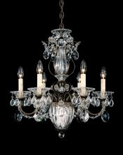Schonbek 1246-76 - Bagatelle 7 Light 110V Chandelier in Heirloom Bronze with Clear Heritage Crystal