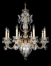 Schonbek 1248-211 - Bagatelle 11 Light 110V Chandelier in Rich Auerelia Gold with Clear Heritage Crystal