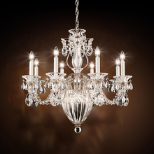 Schonbek 1238N-76H - Bagatelle 11 Light 110V Chandelier in Heirloom Bronze with Clear Heritage Crystal