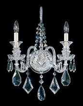Schonbek 5702CL - Hamilton 2 Light 110V Wall Sconce in Silver with Clear Heritage Crystal