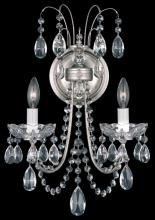 Schonbek LU0004N-76H - Lucia 2 Light 110V Wall Sconce in Heirloom Bronze with Clear Heritage Crystal