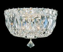 Schonbek 5890-40M - Petit Crystal Deluxe 3 Light 110V Close to Ceiling in Silver with Clear Gemcut Crystal