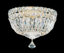 Schonbek 5891-40M - Petit Crystal Deluxe 4 Light 110V Close to Ceiling in Silver with Clear Gemcut Crystal
