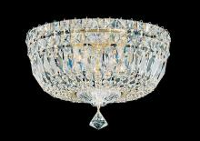 Schonbek 5892-40M - Petit Crystal Deluxe 5 Light 110V Close to Ceiling in Silver with Clear Gemcut Crystal