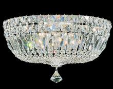 Schonbek 5893-211M - Petit Crystal Deluxe 5 Light 110V Close to Ceiling in Rich Auerelia Gold with Clear Gemcut Crystal
