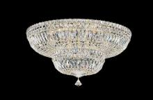 Schonbek 5895-40M - Petit Crystal Deluxe 13 Light 110V Close to Ceiling in Silver with Clear Gemcut Crystal