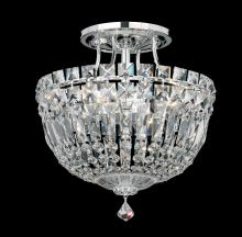 Schonbek 5900-211M - Petit Crystal Deluxe 4 Light 110V Close to Ceiling in Rich Auerelia Gold with Clear Gemcut Crystal