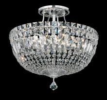 Schonbek 5902-211M - Petit Crystal Deluxe 8 Light 110V Close to Ceiling in Rich Auerelia Gold with Clear Gemcut Crystal