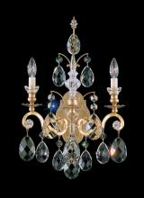 Schonbek 3761-76 - Renaissance 2 Light 110V Wall Sconce in Heirloom Bronze with Clear Heritage Crystal