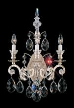 Schonbek 3762-48 - Renaissance 3 Light 110V Wall Sconce in Antique Silver with Clear Heritage Crystal