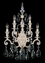 Schonbek 3763-76 - Renaissance 5 Light 110V Wall Sconce in Heirloom Bronze with Clear Heritage Crystal