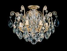 Schonbek 3784-22 - Renaissance 6 Light 110V Close to Ceiling in Heirloom Gold with Clear Heritage Crystal