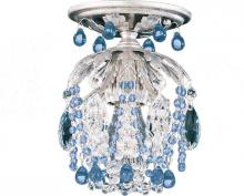 Schonbek 1250-48CL - Rondelle 1 Light 110V Close to Ceiling in Antique Silver with Clear Vintage Crystal
