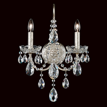 Schonbek ST1939N-48H - Sonatina 2 Light 110V Wall Sconce in Antique Silver with Clear Heritage Crystal