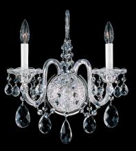 Schonbek 2991-40H - Sterling 2 Light 110V Wall Sconce in Silver with Clear Heritage Crystal