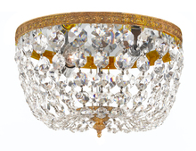 Crystorama 708-OB-CL-I - Crystorama 2 Light Clear Italian Crystal Olde Brass Ceiling Mount