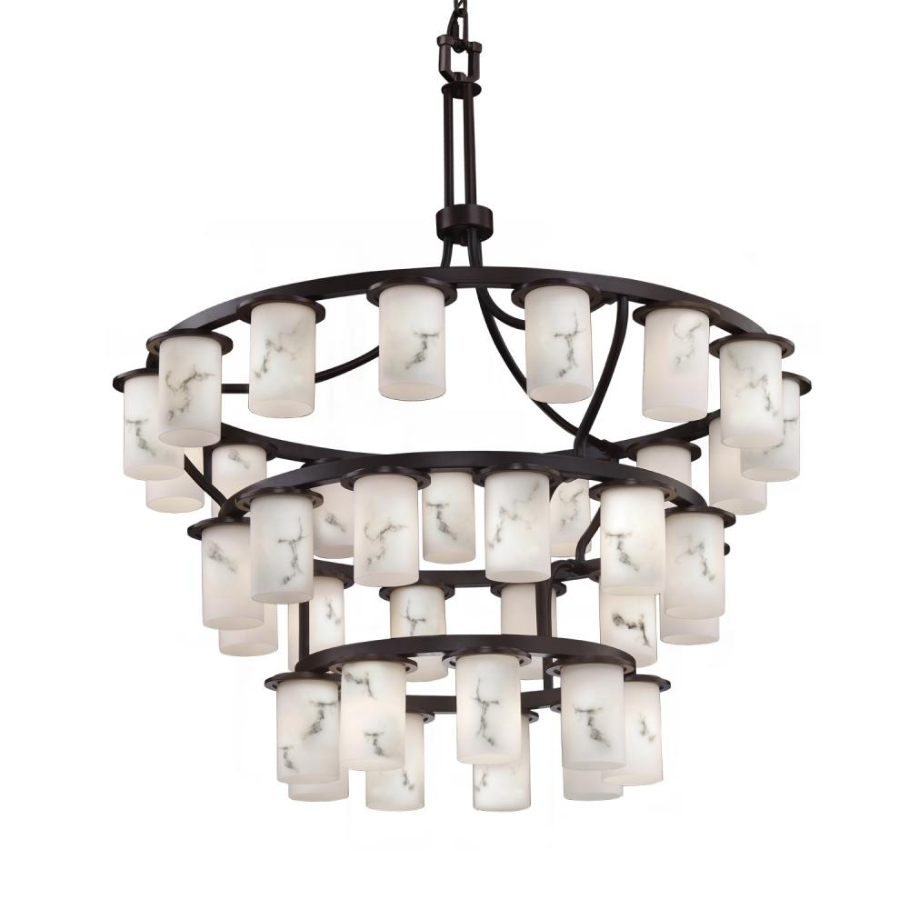 Dakota Downlight 36-Light Inverted 3-Tier LED Chandelier