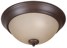 "Jeremiah XP13AG-2A - Pro Builder 2 Light 13"" Flushmount in Aged Bronze Textured"