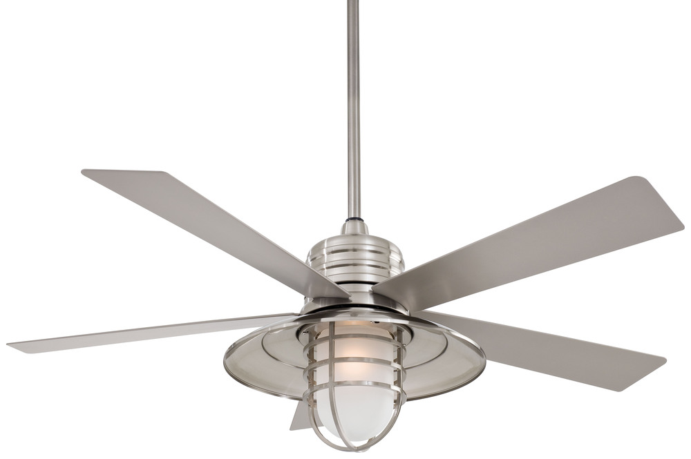 Global Source Lighting in AGOURA HILLS, California, United States,  44MX, One Light Brushed Nickel Wet Outdoor Fan, Rainman