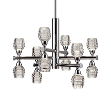 Kuzco Lighting Inc CH52127-CH - Magnificent LED Chandelier with Up Down Die Cast Clear Glass