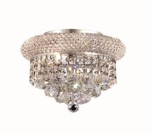 Elegant V1800F10C/RC - 1800 Primo Collection Flush Mount D:10in H:7in Lt:3 Chrome Finish (Royal Cut Crystals)