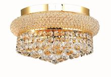 Elegant V1800F12G/RC - 1800 Primo Collection Flush Mount D:12in H:6in Lt:4 Gold Finish (Royal Cut Crystals)