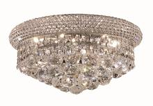 Elegant V1800F14C/RC - 1800 Primo Collection Flush Mount D:14in H:8in Lt:6 Chrome Finish (Royal Cut Crystals)