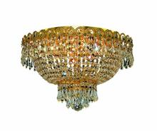 Elegant V1900F16G/EC - 1900 Century Collection Flush Mount D:16in H:10in Lt:4 Gold Finish (Elegant Cut Crystals)