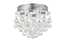 Elegant V2006F14C/RC - 2006 Galaxy Collection Flush Mount D:14in H:14in Lt:4 Chrome Finish (Royal Cut Crystals)